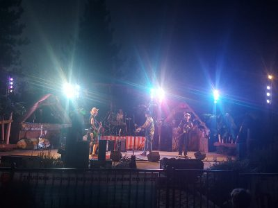 Sound and Lighting for a Wednesday Night Concert at Truckee Regional Park with the band The Deckheads.