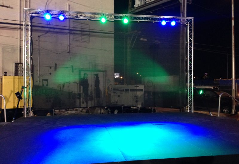 20x16 stage for First Friday festival in Las Vegas