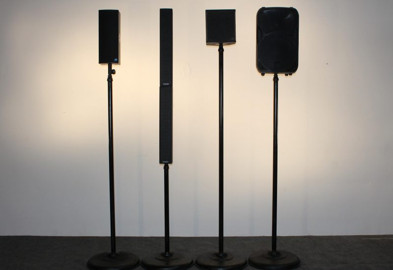 Speakers on Sticks