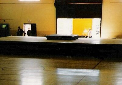 40' x 20' stage with 8' x 8' drum riser.