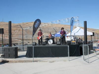 The Run Up band at Sparks Motor Sports Park