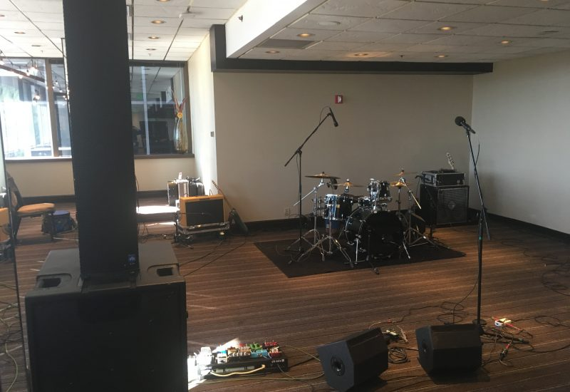 Sound System and Backline rental for a band flying in to Harvy's Lake Tahoe for a corporate event