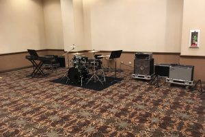 Backline for Disney's All American College Band auditions