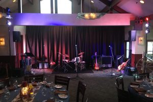 Backline, Audio and Lighting rental for Garrett T Capps playing at the Riva Grill at Lake Tahoe.