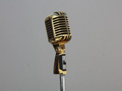 Shure 55 Gold with Black Foam